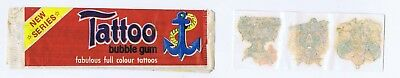 TATTOO BUBBLE GUM WRAPPER AND TATTOOS 1960s ? SOMPORTEX
