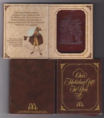 Sealed Norman Rockwell Christmas Ornament 1979 McDonald's Saturday Evening Post