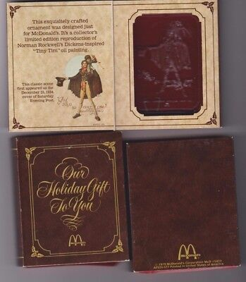 New - Norman Rockwell Christmas Ornament 1979 McDonald's Saturday Evening Post