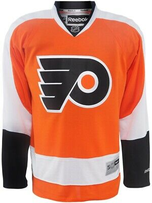 New Men's REEBOK NHL PREMIER JERSEY Orange Philadelphia Flyers
