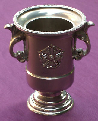 Silver Plated Small Vase with Tudor Rose Decoration