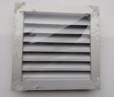 250mm Square Aluminium External Weather Louvre with bird mesh on rear - qty 2