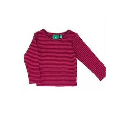 Little Green Radicals Long Sleeved striped ribbed T Shirt Top age 1 - 2 years