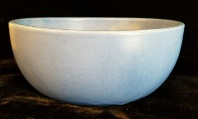 Catalina Island Art Pottery Matte Blue Round Serving Bowl Yankee Trader Brewster