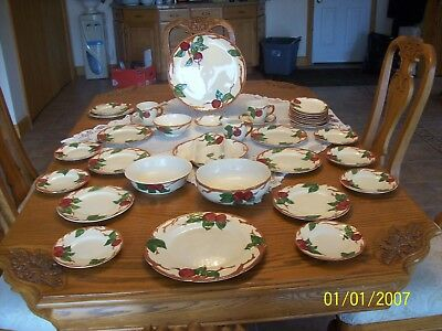Franciscan Vintage Apple Pattern 37 Piece Grouping Gladding McBean & Co. 1953-58