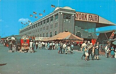 Postcard PA York Fair September Largest Fair In Pennsylvania Vintage  PC