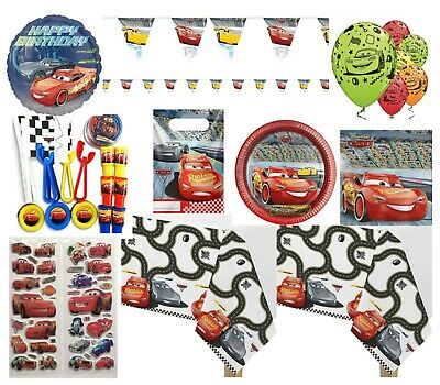 Cars 3 Disney party tablecloth plates favours foil BALLOON STICKERS