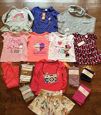 Girls Nwt 3t Lot Winter spring Clothes Outfits Sweater Gymboree TCP