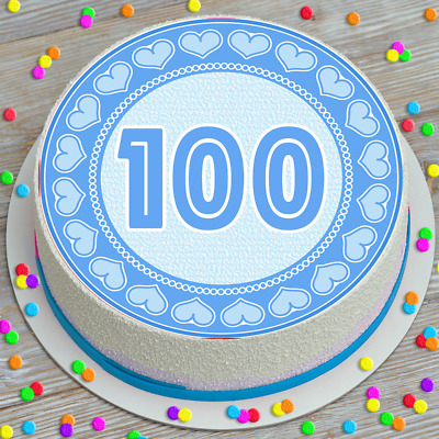 Baking Accs Cake Decorating BLACK GOLD 100TH BIRTHDAY ANNIVERSARY AGE 100 EDIBLE CUPCAKE TOPPER K128
