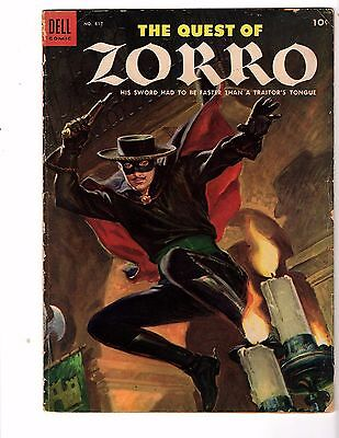 The Quest Of Zorro (4 Color) # 617  Dell 1955  Very Good   Great  Art !
