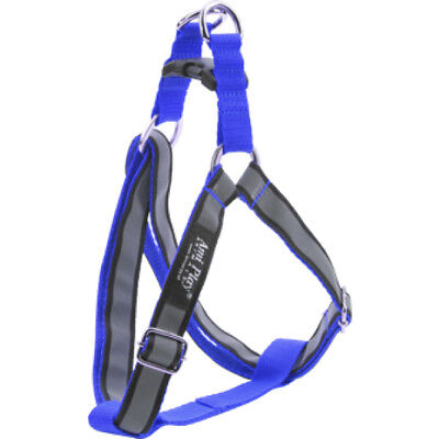 Ami Play Reflactive Dog Puppy Harness Cotton Shine RRP:£12.49 Blue Red Black