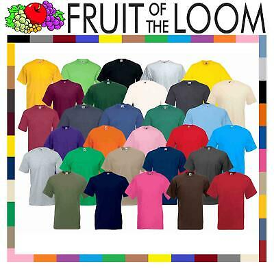 Fruit of the Loom Cotton Plain Blank Men's Women's Tee Shirt Tshirt T-Shirt NEW