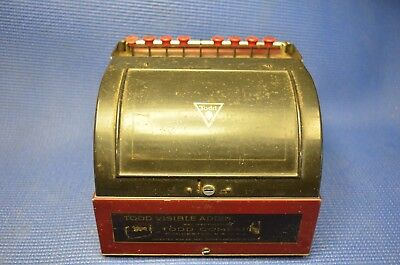 VERY NICE COLOR ..Vintage Star Adding Machine by Todd Protectograph co.