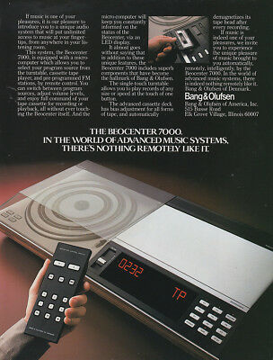 1982 Bang & Olufsen Beocenter 7000: Advanced Music Systems Vintage Print Ad