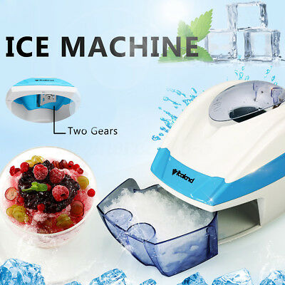 Portable Adjustable Ice Crusher Maker Snow Cone Machine Fast DIY Party Dessert
