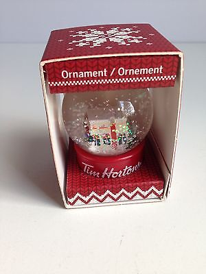 TIM HORTONS Christmas Tree Ornament SNOWGLOBE, 2015, NEW IN BOX!