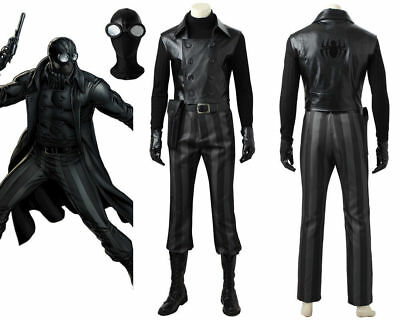 Avengers SpiderMan Noir Peter Parker Cosplay Costume