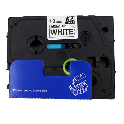 Black on White Label Tape for Brother P-Touch 1180 1190 1200 1250 1280