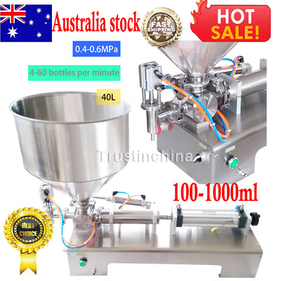 100-1000ml Automatic Filling Machine for Cream Honey Sauce CosmeticTooth Paste