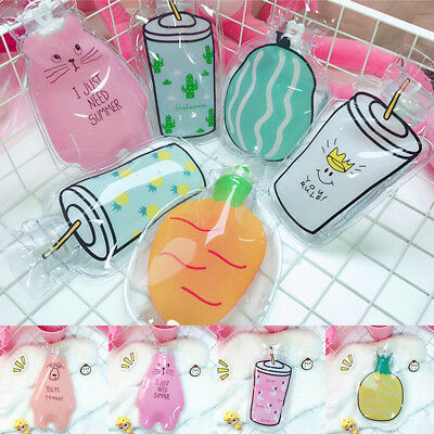 Cartoon Clear Hot Water Bag Bottle Relaxing Heat Warm Heat Cold Therapy