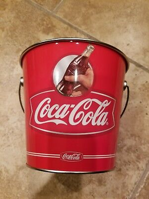 Coca-Cola Tin Galvanized Ice Bucket Cooler Collectible