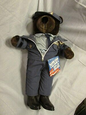 Patriot Plush USPS Teddy Bear Mail or Letter Carrier, 1986, very good condition