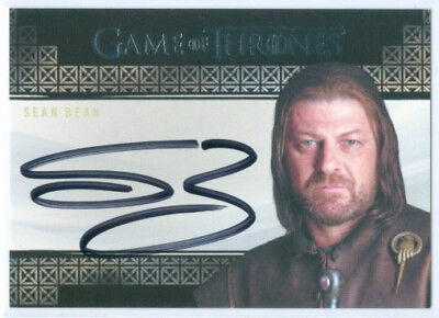 "Sean Bean ""ned Stark Autograph Card"" Game Of Thrones Valyrian Steel"