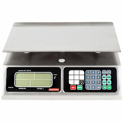 TORREY LPC40L Electronic Price Computing Scale, Rechargeable Battery, Stainless