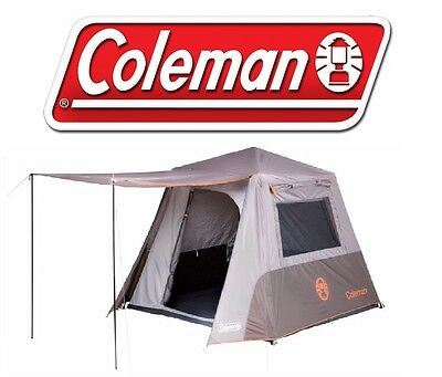 COLEMAN INSTANT UP 4P TENT FULL FLY 4 PERSON TOURER CAMPING TENTS new 2017 MODEL