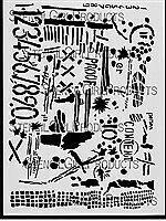 NEW Stencil Girl Products, Stencil, Seth Apter, Numbers (L184)