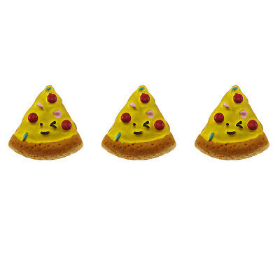 12/20pcs Resin Flatback Cabochons Yellow Pizza Slice Look Accessory DIY Findings