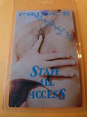 Prince Lovesexy 88 Laminated Staff All Access Backstage Pass