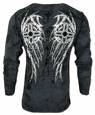 XTREME COUTURE by AFFLICTION Men T-Shirt IMPERIAL DEATH Skul WINGS Biker UFC $40