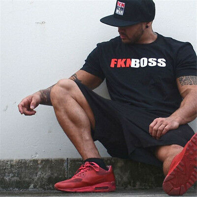 2018 New Brand Gyms t-shirts Mens Fitness Gyms Shirt Man Fashion Crossfit Tees
