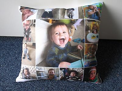 Personalised Cushion with cushion pad included. Single or double sided print