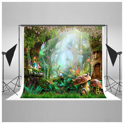 7x5ft Fairytale Forest Jungle Photography Background Newborn Photo Backdrop Prop