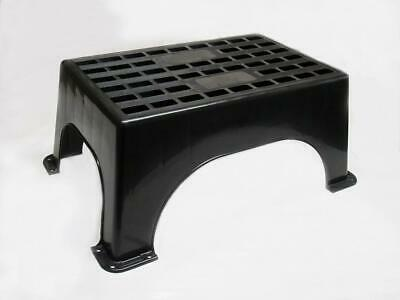 Large Plastic Caravan Heavy Duty Step - Motor Home Camper Van Boat Black