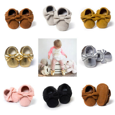 US Toddler Baby Shoes Newborn Girls Soft Soled Princess Crib Shoes Prewalker Hot