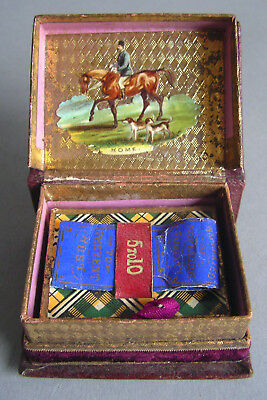 Nadelbehälter Jugendstil Yeomans & sons Redditch Art Nouveau needlecase box
