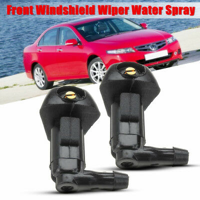 2PCS Windshield Wiper Water Spray Jet Washer Nozzle For Honda Accord 2003-2007