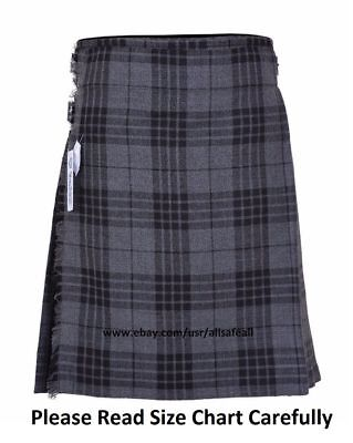 Grey Tartan KIDS 13 Oz Casual Wear, Formal Wear, Scottish Tartan Kilt USA Stock