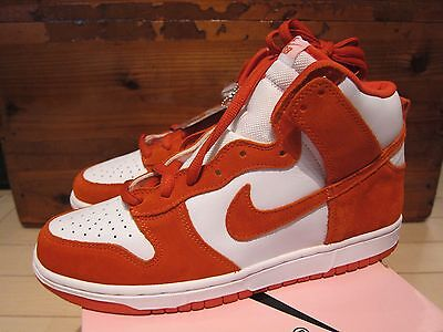 new concept 21649 1962e 2005 Nike Dunk High Pro SB Be True To Your School Syracuse Orange White 10
