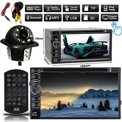 Digital Double 2 DIN In dash Car Stereo DVD Bluetooth Radio View Camera For Ford