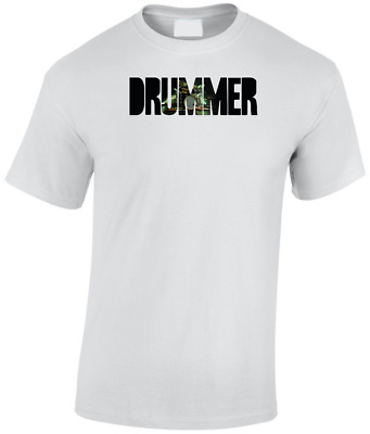 Drummer Personalised Tshirt Music Drumming Drums Cymbal Musician Mens Funny Gift