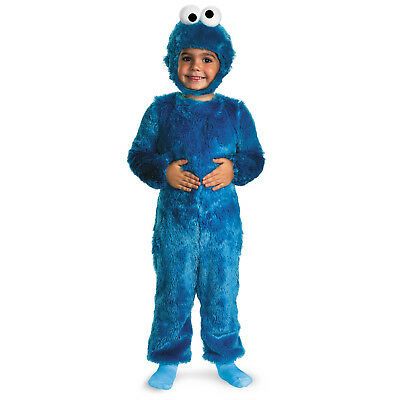 Babys Toddlers Sesame Street Cookie Monster Fur Plush Fancy Dress Party Costume