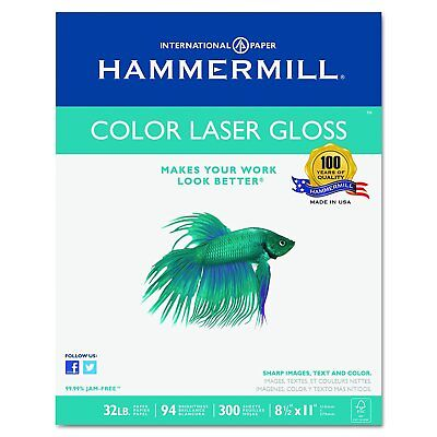 Hammermill 163110 Color Laser Gloss Paper, 94 Brightness, 32lb, 8-1/2 x 11, Pack