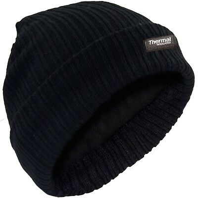 New  Fine Ribbed Thinsulate Lined Beanie Hat | Thermal | Mens | Womens | Warm