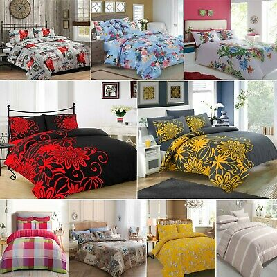 Luxury Duvet Cover With Pillow Case Quilt Cover Bedding Set Single, Double, King