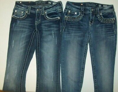 Girls Miss Me Jeans lot size 25 size 16 equivalent Girls two pair MISS ME jeans