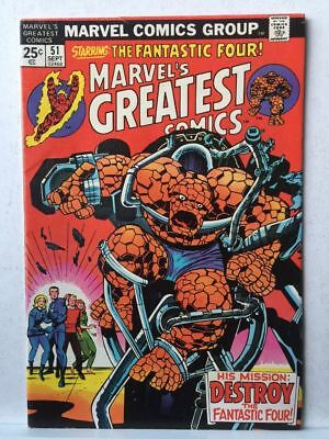 Marvel's Greatest Comics # 51 VF+ Fantastic Four # 68 Free Postage
